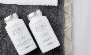 social media skin health duo with towels