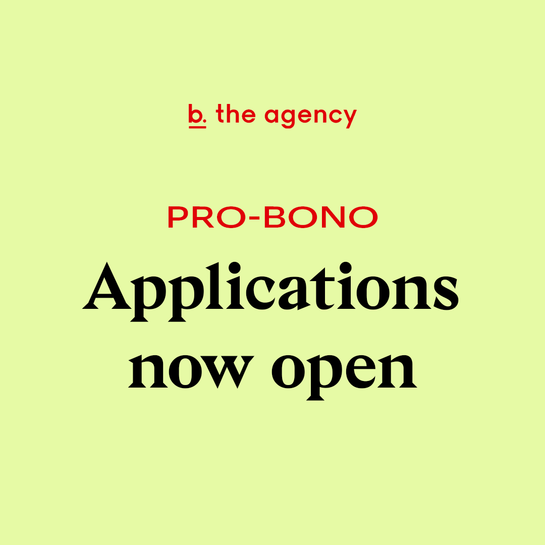 Text Graphic: 'Pro Bono Applications now Open'